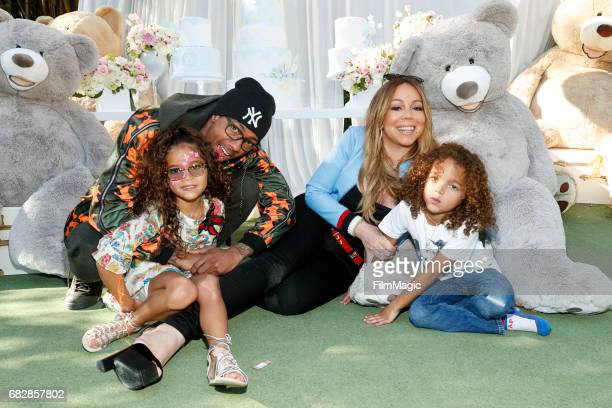 Monroe Cannon, Nick Cannon, Mariah Carey and Moroccan Scott Cannon attend the Moroccan Scott Cannon and Monroe Cannon Party on Mary 13 in Los...