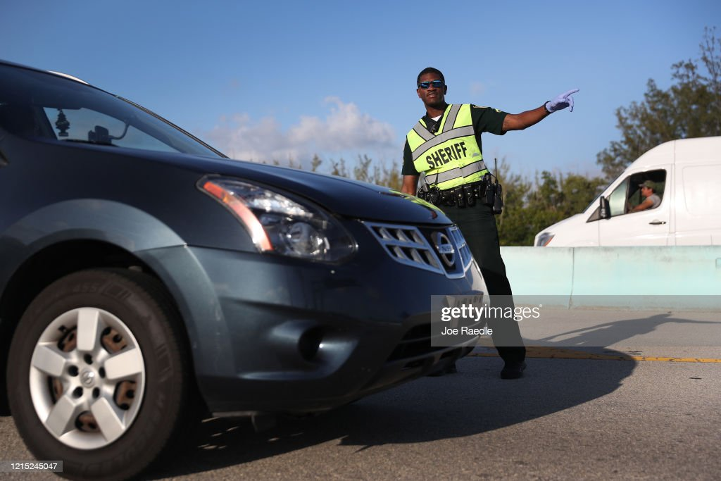 Florida Add Checkpoint For Access To Florida Keys : News Photo