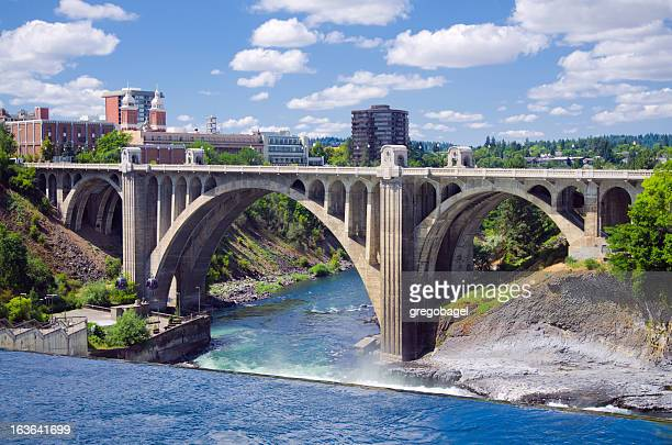 monroe street bridge in spokane, wa - washington state stock pictures, royalty-free photos & images