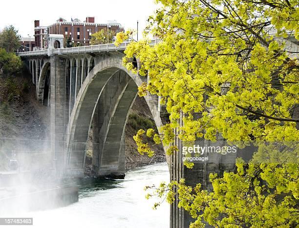 monroe street bridge - spokane stock pictures, royalty-free photos & images