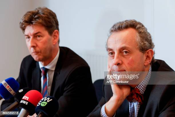Mons Attorney General Ignacio de la Serna and Liege Attorney General Christian de Valkeneer hold a press conference over breakthrough in 1980s...