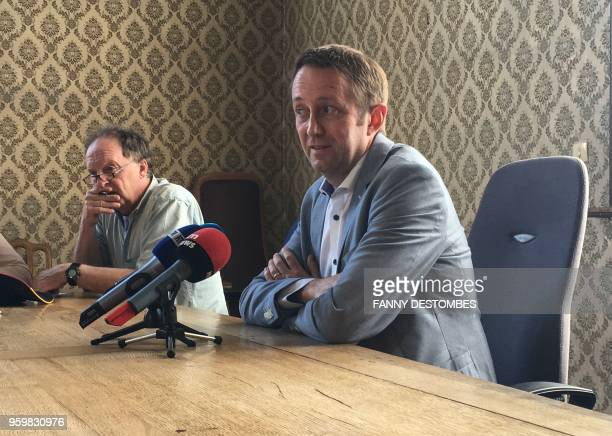 Mons' prosecutor Frederic Bariseau addresses a press conference on May 18 2018 at the courthouse of Tournai after a twoyearold girl of Kurdish origin...