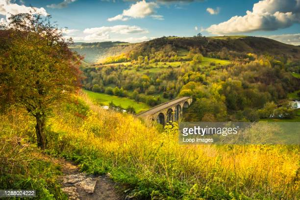 Monsal Dale and the Headstone Viaduct in Derbyshire.
