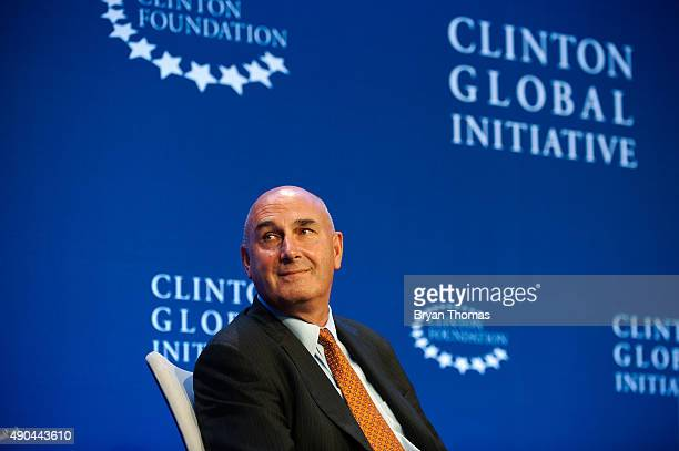 Monsanto's Chairman and CEO Hugh Grant participates on a panel during the Clinton Global Initiative Annual Meeting at the Sheraton Hotel and Towers...