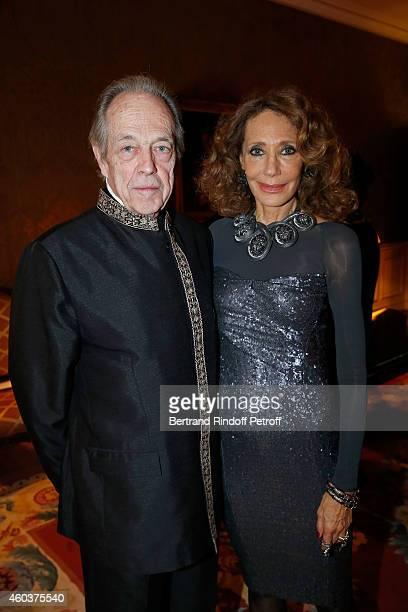Monseigneur le Comte de Paris and Marisa Berenson attend The Children for Peace Gala at Cercle Interallie on December 12 2014 in Paris France