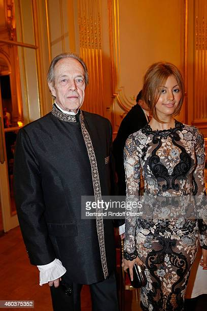 Monseigneur le Comte de Paris and Zahia Dehar attend The Children for Peace Gala at Cercle Interallie on December 12 2014 in Paris France