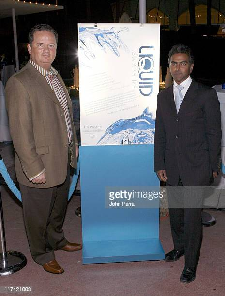 Monsell Darville and Kiran Akal during Art Basel Miami Beach 2006 Bombay Sapphire Presents Liquid Sapphire at Segafredeo in Miami Beach Florida...