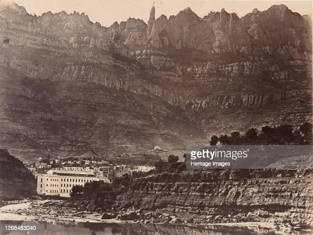 Monserrat Vista general de la montaña desde Monistrol 1860 Artist Charles Clifford