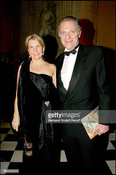 Monsieur and Madame Alain Flammarion at the Gala Evening La Nuit Internationale De L'Enfance At Chateau De Versailles