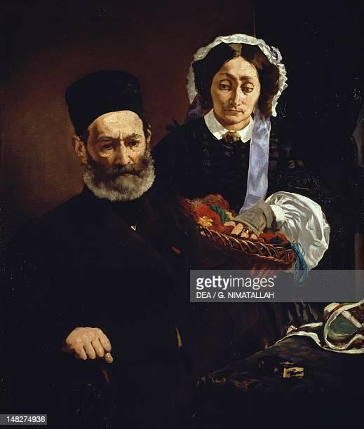 Monsieur and Madame Auguste Manet by Edouard Manet oil on canvas 110x90 cm Paris Musée D'Orsay