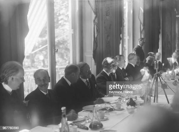 Monsieur Léon Blum leader du parti socialiste invité au déjeuner de l'American Club à Paris France le 15 mai 1936