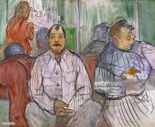 Monsieur Madame et le Chien 1893 Oil on tempera on canvas 48 x 60 cm [Ehepaar mit Hund 1893 oel und Tempera auf Leinwand 48 x 60 cm]