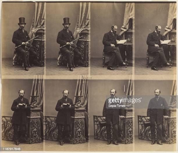 Monsieur Merlen 1861 AndreAdolpheEugene Disderi Albumen print from wet collodion negative uncut cartedevisite proof print image 199 x 231 cm matted...