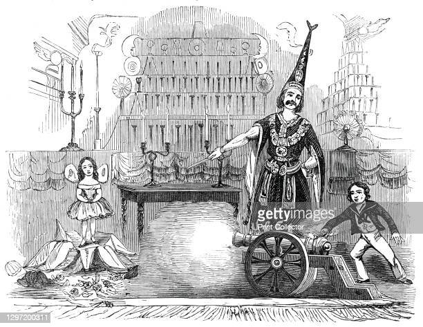 Monsieur Philippe, at the Strand Theatre, 1845. Magic show on the London stage. 'M. Philippe, the conjuror...has taken the Strand Theatre for a...