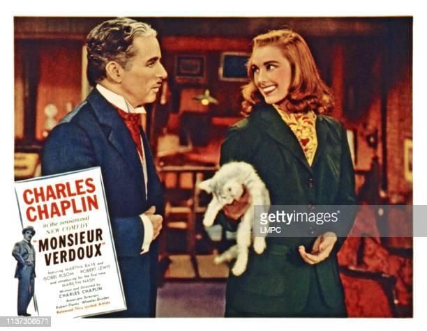 Monsieur Verdoux US lobbycard from left Charles Chaplin Marilyn Nash 1947