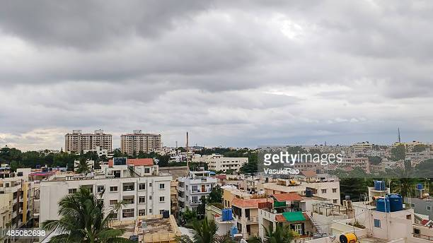 monsoon clouds over bangalore, india - karnataka stock pictures, royalty-free photos & images