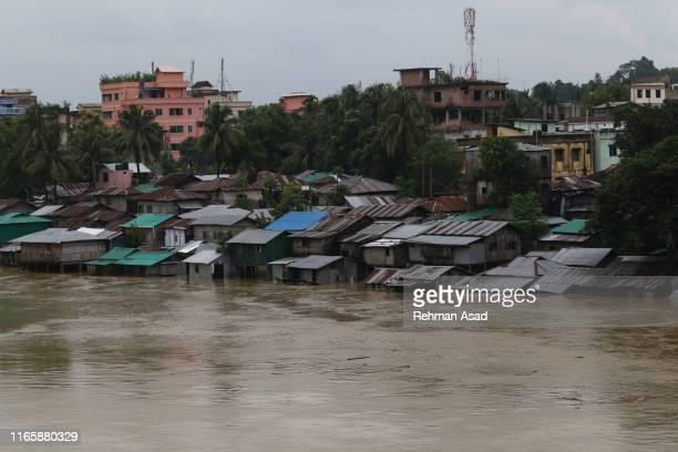 monsoon flood in bandarban, bangladesh - bangladesh stockfoto's en -beelden
