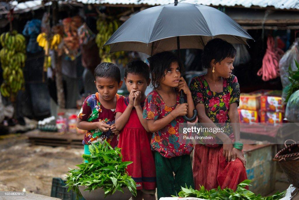 Rohingya Refugees Mark One Year Since The Crisis : Nachrichtenfoto