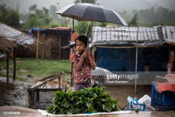 Monsoon rains hit the refugee camps August 28 2018 in Unchiprang refugee camp Cox's Bazar Bangladesh UN investigators said on Monday that Myanmar's...