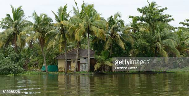 Monsoon season around Kochi Backwaters around Kochi in the state of Kerala Most of the houses were flooded during the monsoon season on JULY 19 2016...