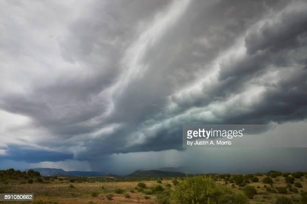 monsoon season in sedona, arizona - monsoon stock pictures, royalty-free photos & images
