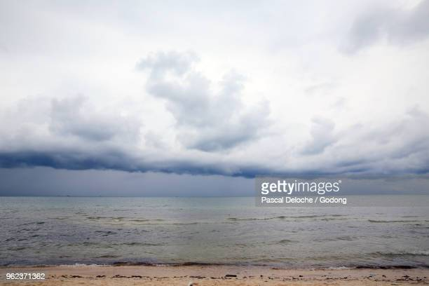 Monsoon season. Large storm clouds over South China sea. Phu Quoc. Vietnam.
