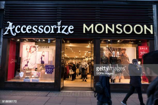 Monsoon store seen in London famous Oxford street Central London is one of the most attractive tourist attraction for individuals whose willing to...