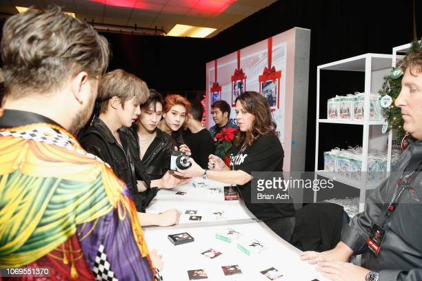 Monsta X attend the Z100's Jingle Ball 2018 Gift Lounge at Madison Square Garden on December 7 2018 in New York City