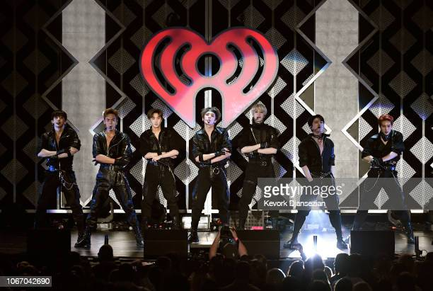 Monsta X perform onstage during 1027 KIIS FM's Jingle Ball 2018 Presented by Capital One at The Forum on November 30 2018 in Inglewood California