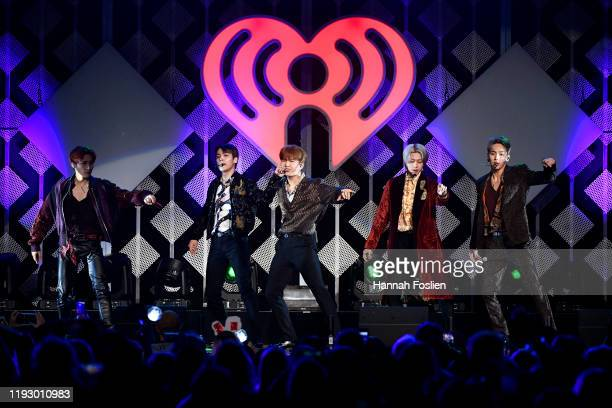 Monsta X performs onstage during 1013 KDWB's Jingle Ball 2019 Presented by Capital One at Xcel Energy Center on December 9 2019 in St...