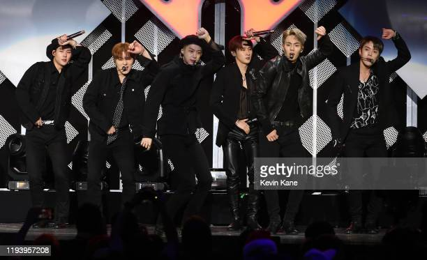 Monsta X performs onstage during iHeartRadio's Z100 Jingle Ball 2019 at Madison Square Garden on December 13 2019 in New York City