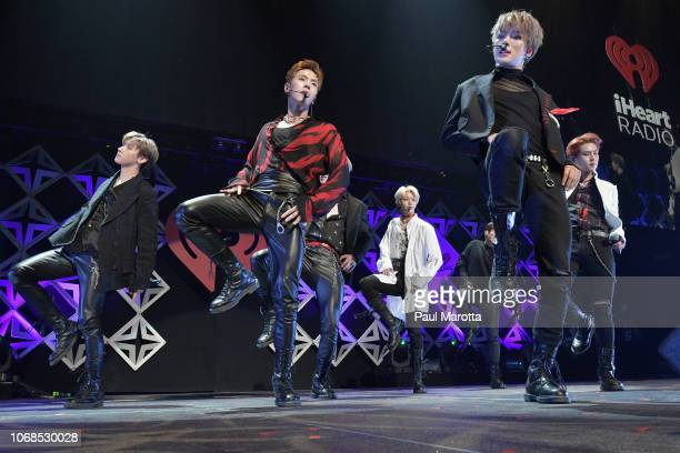 Monsta X performs onstage during KISS 108's Jingle Ball 2018 at TD Garden on December 4 2018 in Boston Massachusetts