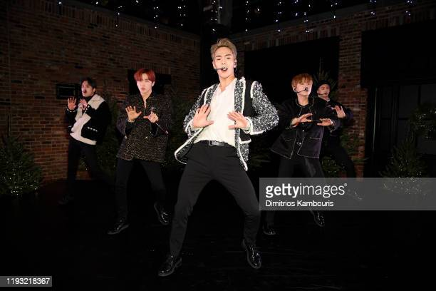 Monsta X performs onstage during the CHANEL party to celebrate the debut of CHANEL N5 In The Snow at The Standard High Line on December 10 2019 in...
