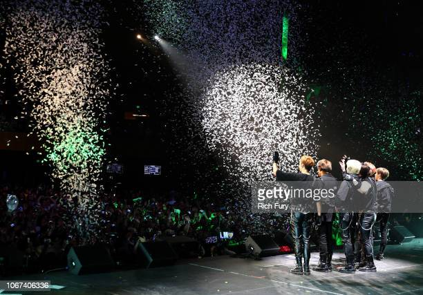 Monsta X performs onstage during WiLD 949's FM's Jingle Ball 2018 Presented by Capital One at Bill Graham Civic Auditorium on December 1 2018 in San...