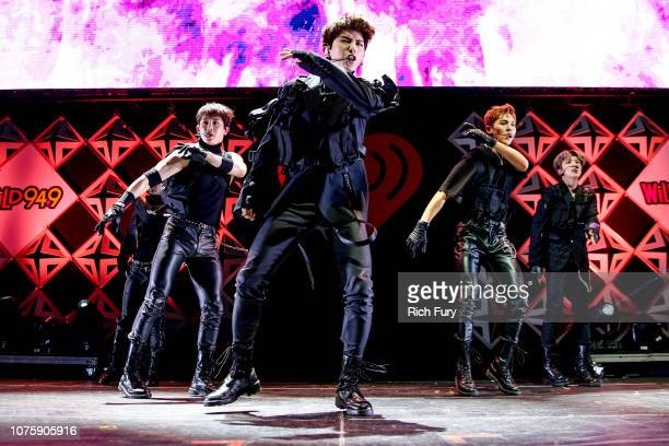 Monsta X performs onstage during WiLD 949's FM's Jingle Ball 2018 Presented by Capital One at Bill Graham Civic Auditorium on December 01 2018 in San...