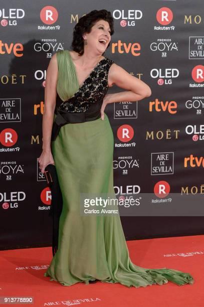 Monste Alcocer attends Goya Cinema Awards 2018 at Madrid Marriott Auditorium on February 3 2018 in Madrid Spain