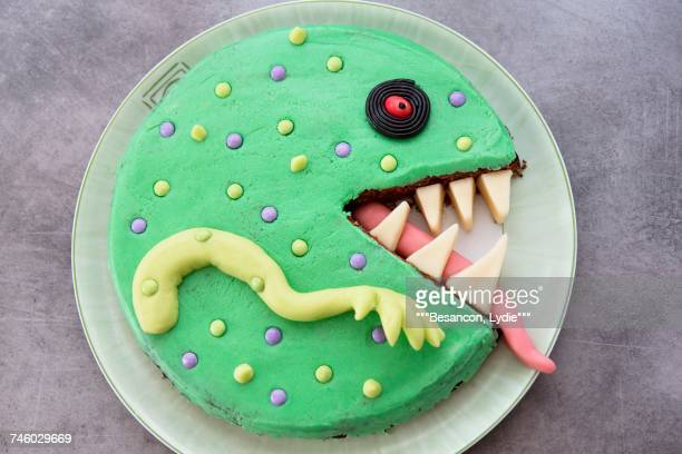 A monster cake decorated with marzipan