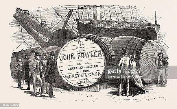 Monster Casks Of Sherry In The London Docks UK 1851 Engraving