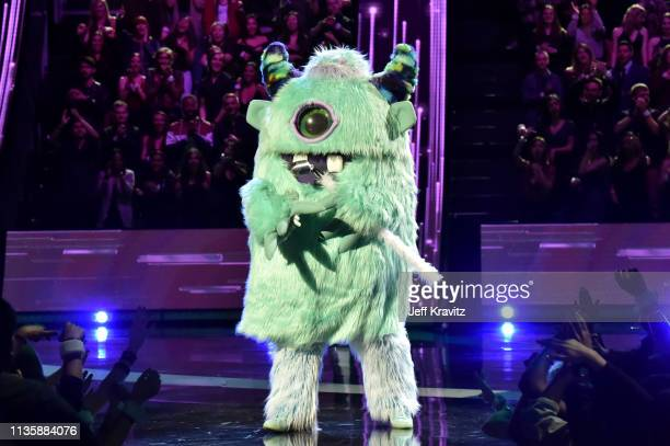 A monster character appears on stage at the 2019 iHeartRadio Music Awards which broadcasted live on FOX at the Microsoft Theater on March 14 2019 in...