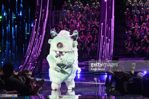 A monster character appears on stage at the 2019 iHeartRadio Music Awards which broadcasted live on FOX at Microsoft Theater on March 14 2019 in Los...