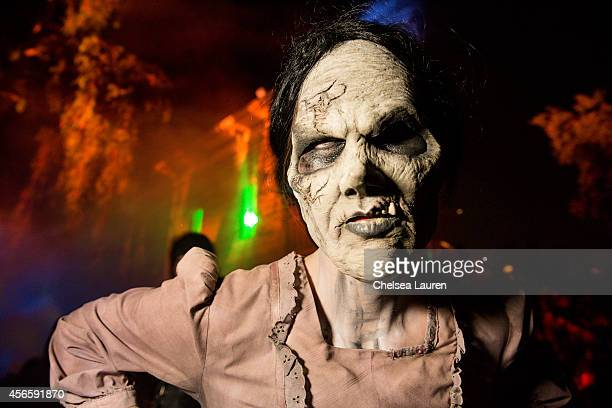 Monster 'Echo' poses for a portrait during Knotts Scary Farm celebrity VIP opening at Knott's Berry Farm on October 2 2014 in Buena Park California