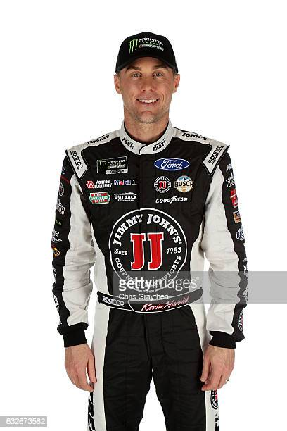 Monster Energy NASCAR Cup driver Kevin Harvick poses for a photo during the 2017 Media Tour at the Charlotte Convention Center on January 24 2017 in...