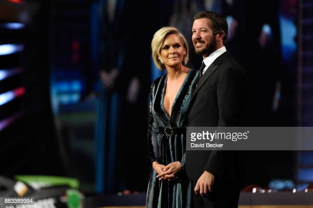 Monster Energy NASCAR Cup Series Champion Martin Truex Jr and Sherry Pollex attend the Monster Energy NASCAR Cup Series awards at Wynn Las Vegas on...
