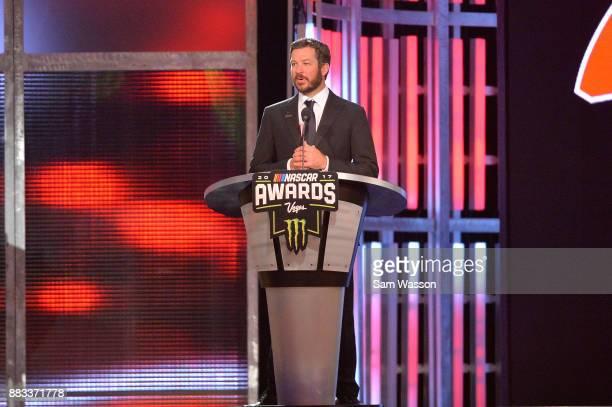 Monster Energy NASCAR Cup Series Champion Martin Truex Jr attends the Monster Energy NASCAR Cup Series awards at Wynn Las Vegas on November 30 2017...