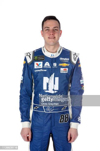Monster Energy NASCAR Cup Series driver Alex Bowman poses for a photo at the Charlotte Convention Center on January 30 2019 in Charlotte North...