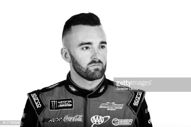 Monster Energy NASCAR Cup Series driver Austin Dillon poses for a portrait during the Monster Energy NASCAR Cup Series Media Tour at Charlotte...