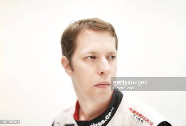 Monster Energy NASCAR Cup Series driver Brad Keselowski poses for a portrait during the Monster Energy NASCAR Cup Series Media Tour at Charlotte...