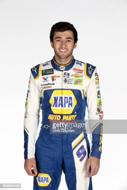 Monster Energy NASCAR Cup Series driver Chase Elliott poses for a photo during the NASCAR Media Tour at Charlotte Convention Center on January 23...