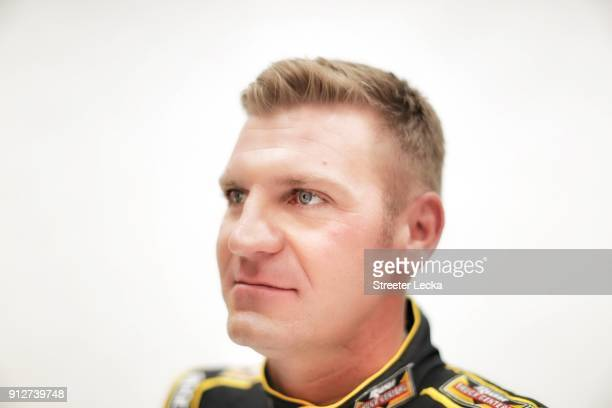 Monster Energy NASCAR Cup Series driver Clint Bowyer poses for a portrait during the Monster Energy NASCAR Cup Series Media Tour at Charlotte...