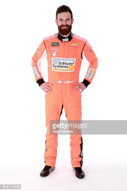 Monster Energy NASCAR Cup Series driver Corey LaJoie poses for a portrait at Daytona International Speedway on February 15 2018 in Daytona Beach...